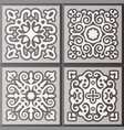 abstract ornamental patterned tile collection vector image vector image