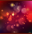 abstract pink and orange bokeh on indigo blue vector image