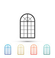 arched window icon isolated on white background vector image