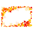autumn frame with colorful leaves vector image vector image