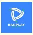 banana play logo vector image vector image