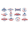 barbershop badges vintage barber label retro vector image vector image