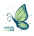 beautiful butterfly sideways element for vector image