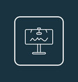 billboard icon line symbol premium quality vector image vector image