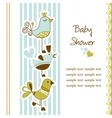 Birds baby shower vector image vector image