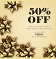 black friday sale discount for everything promo vector image