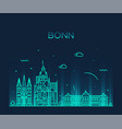 bonn skyline north rhine westphalia germany vector image vector image