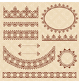 brown arabic ornamental elements vector image vector image