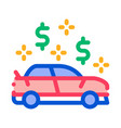 car dollar mark icon outline vector image vector image