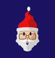 cartoon old santa claus vector image vector image