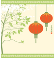 Chinese lanterns vector image vector image