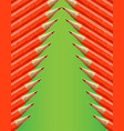 christmas tree made by red pencils vector image vector image