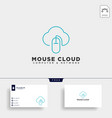 cloud mouse logo template icon element vector image vector image