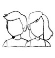 couple faceless avatar vector image