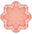 decorative christmas label shape flower snowflake vector image