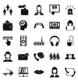 earflaps icons set simple style vector image vector image