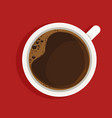 espresso in white cup top view realistic vector image