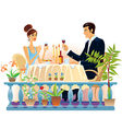 Evening dinner vector image