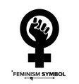 feminism protest symbol feminism woman vector image vector image