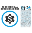 Financial Settings Icon with 1000 Medical Business vector image vector image