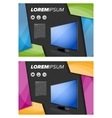 Flayer template with LED TV vector image vector image