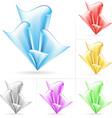 flow design elements vector image vector image