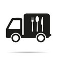 food delivery vehicle with the shadow icon vector image