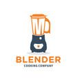 fresh drink blender logo vector image