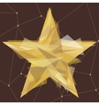 Gold star made of triangles vector image vector image