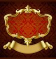 gold vintage framed decorative signboard vector image vector image