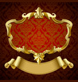 gold vintage framed decorative signboard with vector image vector image