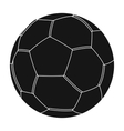 Green soccer ball icon in black style isolated on vector image