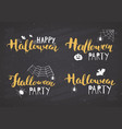 halloween greeting cards set lettering vector image vector image