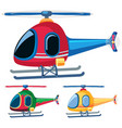 helicopters in three designs vector image vector image