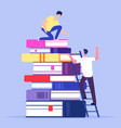 help and support in education concept vector image