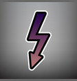 high voltage danger sign violet gradient vector image vector image