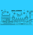 india lucknow winter holidays skyline merry vector image vector image