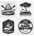 Kayaking Adventure Emblems Composition vector image vector image