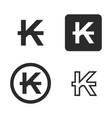 kip currency symbol set vector image