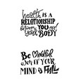 lettering meditatin motivation quotes vector image vector image