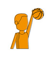 male basketball player athlete sport avatar icon vector image vector image