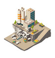 mining isometric rock mine industry production vector image vector image