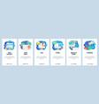 mobile app onboarding screens female software vector image vector image