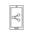 mobile phone technology sharing social media vector image vector image
