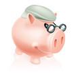 pension savings piggy bank vector image