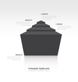 pyramid infographic template design black color vector image vector image