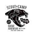 Scout camp emblem vector image vector image