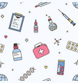 seamless pattern with biomedical laboratory and vector image vector image