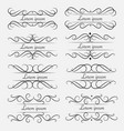 set of decorative calligraphic elements vector image vector image