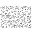set of hand drawn creative star icons isolated vector image